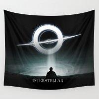 interstellar Wall Tapestries featuring INTERSTELLAR by Tony Vazquez
