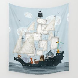 a nautical adventure Wall Tapestry