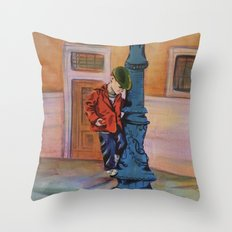 Singing in the rain, the early years Throw Pillow