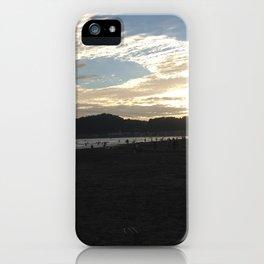 The sunset of Kamakura beach iPhone Case