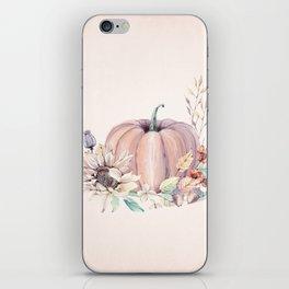 Autumn Pumpkin Cream iPhone Skin