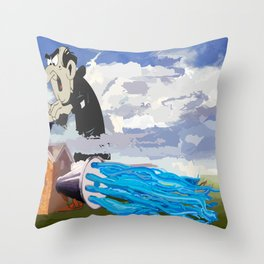 Another Smurf Throw Pillow