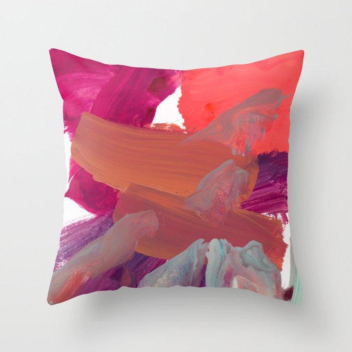 alla prima 2 Throw Pillow