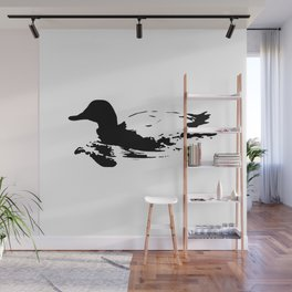 Black and white duck Wall Mural
