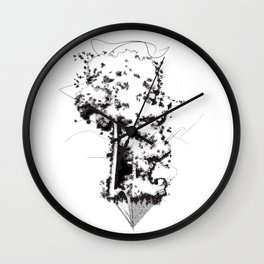 """Uproot & Float"" Wall Clock"