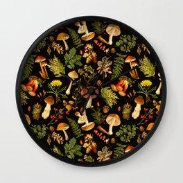 Vintage & Shabby Chic - Autumn Harvest Black Wall Clock