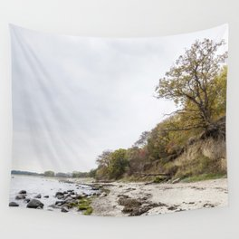 Along The Cliff On Baltic Sea Wall Tapestry