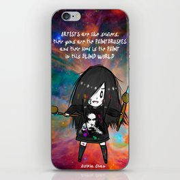 Artists are like soldiers iPhone Skin