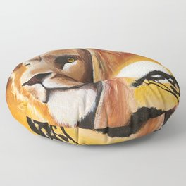 Animal - Lion - Quiet strength - by LiliFlore Floor Pillow
