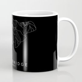 BRECKENRIDGE B&W // Colorado Trail Map White on Black Runs Minimalist Ski & Snowboard Illustration Coffee Mug