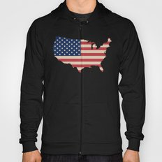 United States of America Map Hoody