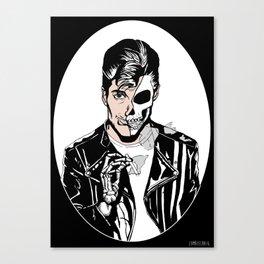 Alex Turner Skull Art by zombieCraig Canvas Print