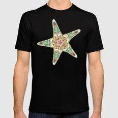 starfish flowers off white MEDIUM Mens Fitted Tee Black