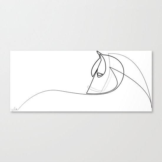 Pony line Canvas Print