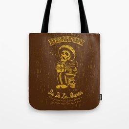 Denton Dia De Los Muertos woodcut Tote Bag