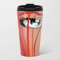 Red Face Metal Travel Mug