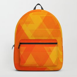 Bright orange and yellow triangles in the intersection and overlay. Backpack