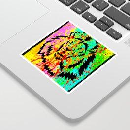 Gold Lion Grr Sticker