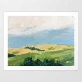 original abstract imagined landscape number3 Art Print