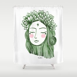 Miss Aster Shower Curtain