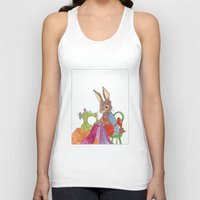 sewing Tank Tops featuring sewing rabbit by emmeke