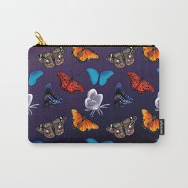 The Wild Magic - Colorful Butterflies Carry-All Pouch
