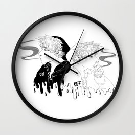 On Off Wall Clock
