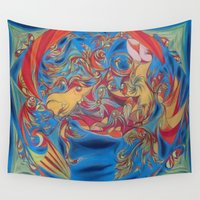 eat Wall Tapestries featuring EAT by Robert Nickologianis