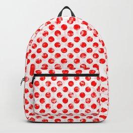 Polka Dot Red and Pink Blotchy Pattern Backpack