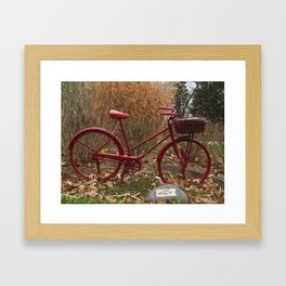 Monument to the Bicycle Framed Art Print
