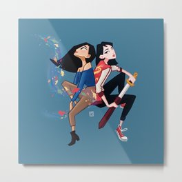 POC Princesses Metal Print