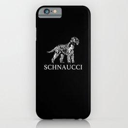 Giant Schnauzer Portrait Of Schnaucci Schnauzer iPhone Case