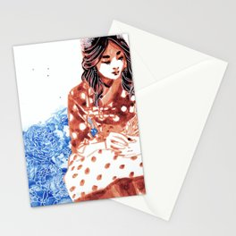 Flowers and Hanbok Stationery Cards