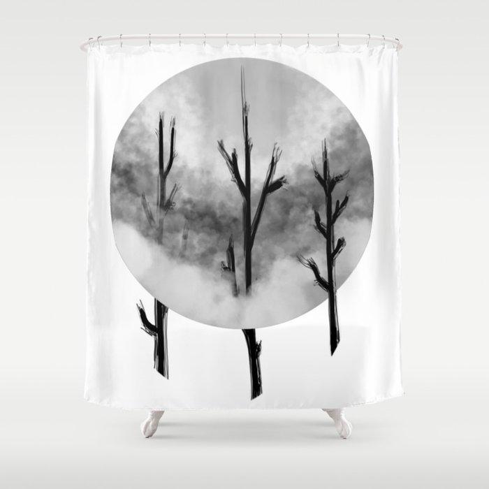 Three Sticks One Circle No.1 Shower Curtain
