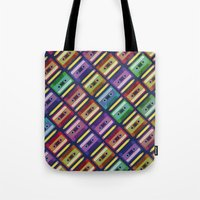 90s Tote Bags featuring 90s pattern by Gabor Nemethi