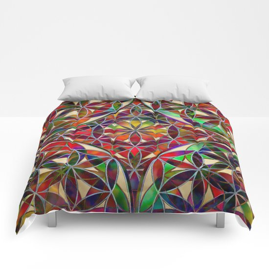 Flower of Life variation Comforters