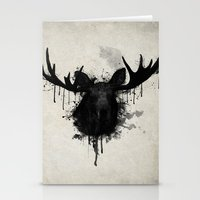 moose Stationery Cards featuring Moose by Nicklas Gustafsson