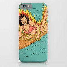 Flaming Surfer Girl iPhone 6s Slim Case