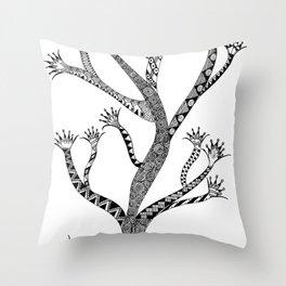 Alluring Tree Throw Pillow