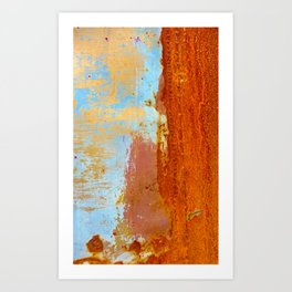 Gold & Rust Art Print