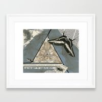 insects Framed Art Prints featuring insects by ephemerality