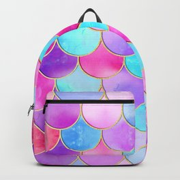 Candy Festival Mermaid Scale Pattern Backpack