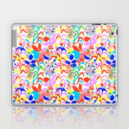 60's Fiesta Floral 2 in White Laptop & iPad Skin