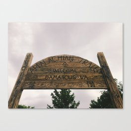 Welcome To Damascus • Appalachian Trail Canvas Print
