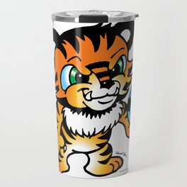 Soccer Tiger (color) square Travel Mug