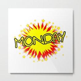 Cartoon Yellow Monday Isolated Splash Metal Print