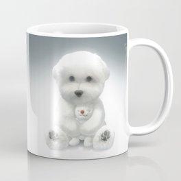 Puppy Hugging His Toy Coffee Mug