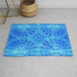 Vibrant Beach Blue Colorburst Rug