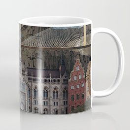 Flat Earth - Seoul, Panama, Budapest, Stockholm Coffee Mug