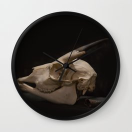 White Tail Deer Skull Wall Clock
